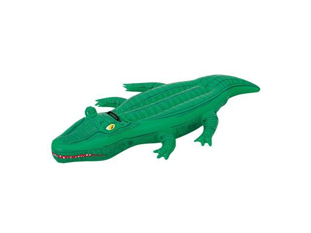 Crocodile 66 in. Inflatable Ride-On Pool Toy