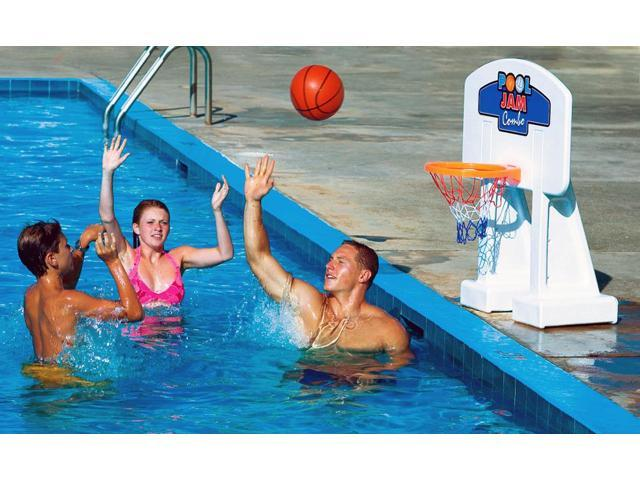 Pool Jam In-Ground Volleyball & Basketball Combo for swimming pools