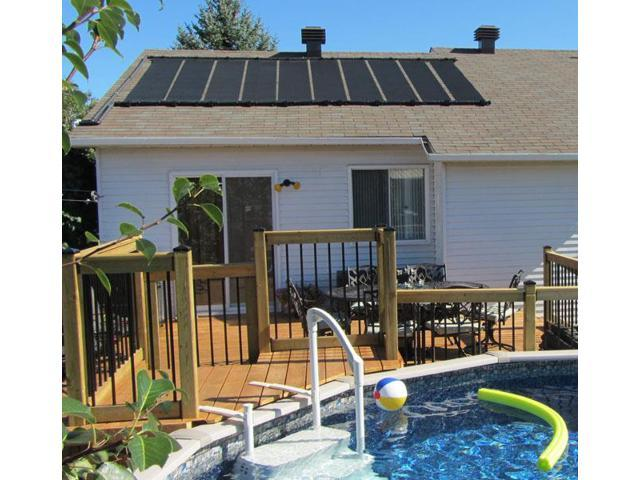 14-2X12' SunQuest Solar Swimming Pool Heater Complete System with Roof Kits