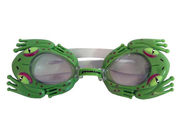 Sea Pals Kids Goggles for Swimming Pool - Frog Style