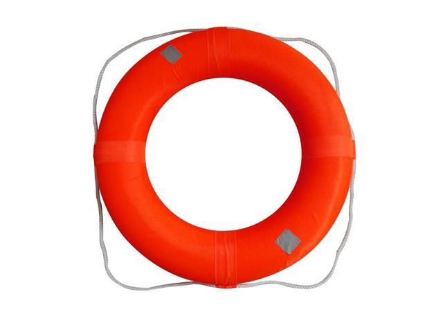 Adult Size Foam Ring Buoy for Swimming Pools 28 inch with Perimeter Rope