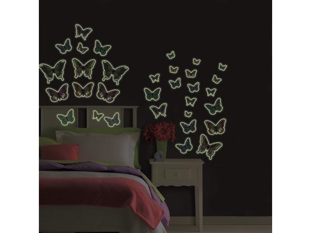 Butterflies Glow in the Dark Wall Art Kit