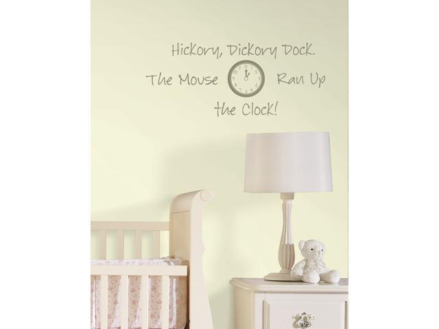 Hickory Dickory Dock Wall Quote