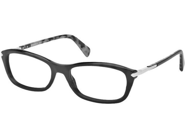 Prada PR04PV 1AB1O1 Eyeglasses, Black Frame, Clear 54mm ...