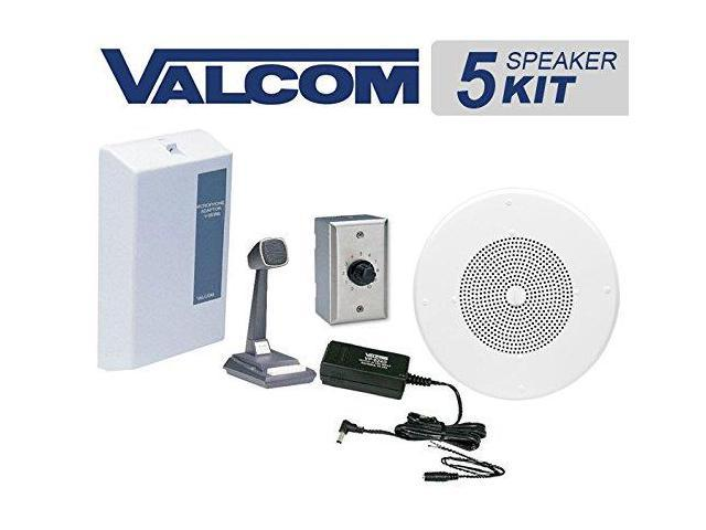 Valcom 5 Ceiling Speaker Overhead Amplified Paging System