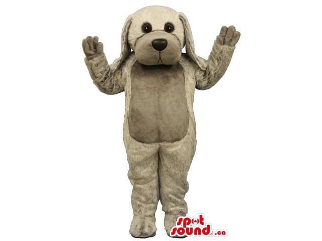 Customised Cute Dog Plush Canadian SpotSound Mascot With Grey Belly