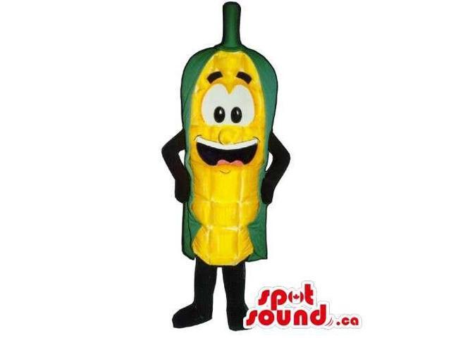 Customised Corncob Canadian SpotSound Mascot With Large Eyes And Smile