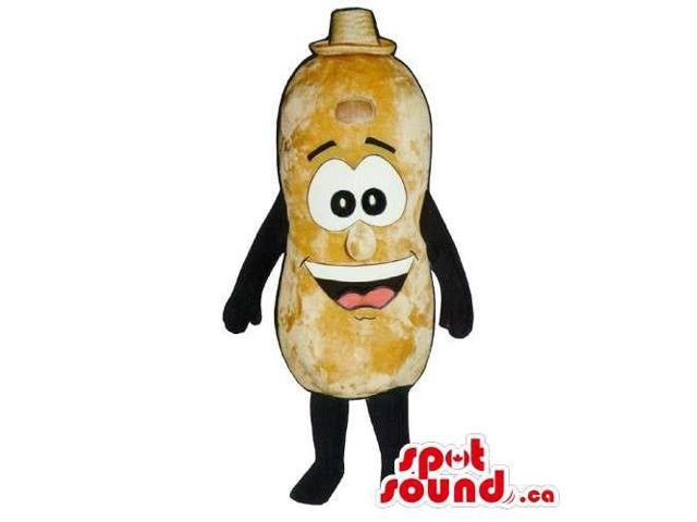 Customised Peanut Canadian SpotSound Mascot With Large Eyes And Smile