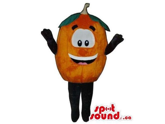Customised Orange Or Tangerine Canadian SpotSound Mascot With Large Eyes And Smile