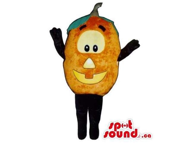 Customised Plush Pumpkin Canadian SpotSound Mascot With Large Eyes And Smile