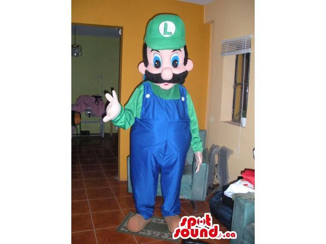 Luigi Character From Super Mario Bros. In A Green Cap