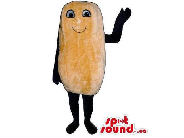Customised Brown Peanut Canadian SpotSound Mascot With Cute Small Eyes