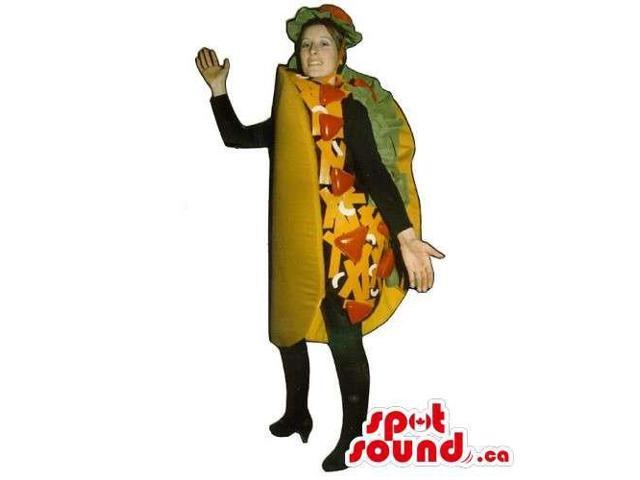 Original Customised Mexican Taco Canadian SpotSound Mascot Or Adult Costume