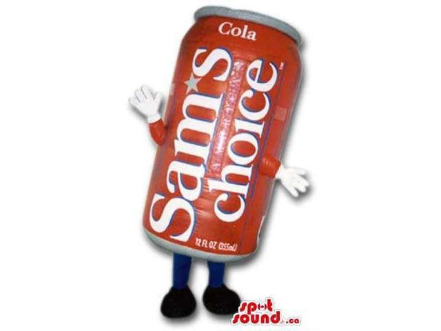 Coke Drink Red Can Canadian SpotSound Mascot With Label And Logo And No Face