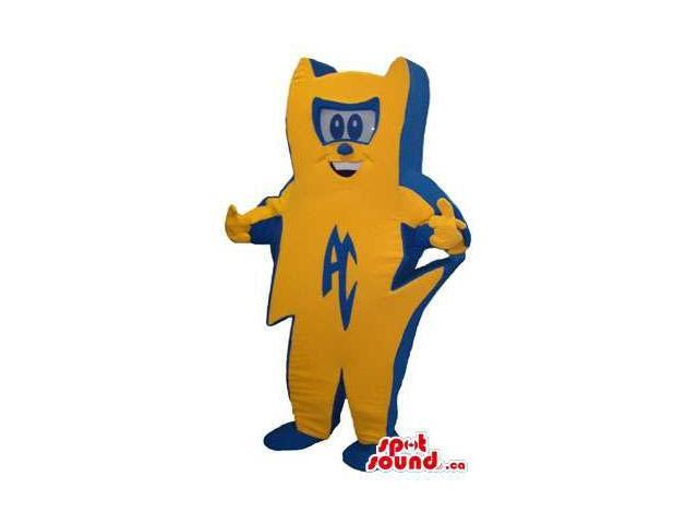 Orange And Blue Canadian SpotSound Mascot Representing Ac Electricity