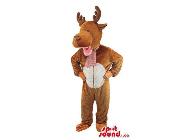 Cute Deer Animal Plush Canadian SpotSound Mascot Or Adult Costume With A White Belly