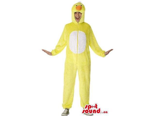 Yellow And White Duck Adult Size Costume Or Plush Canadian SpotSound Mascot