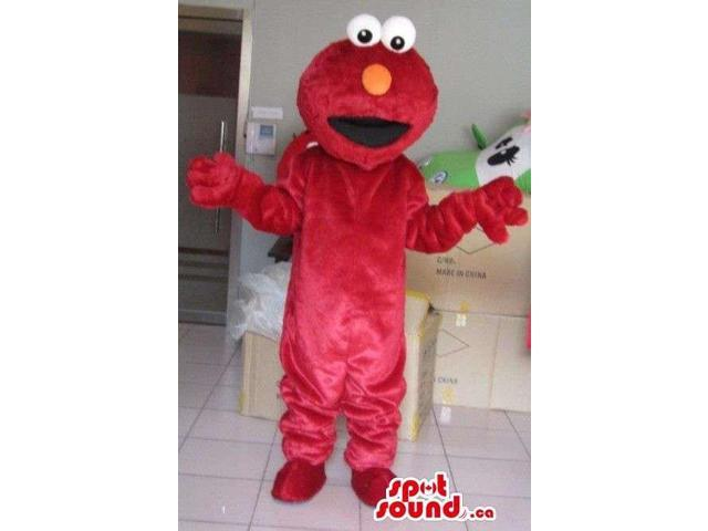 Elmo Red Character Canadian SpotSound Mascot From Tv Show Sesame Street