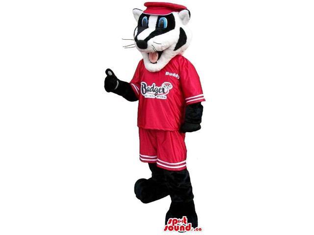 Customised Black And White Badger Animal Canadian SpotSound Mascot