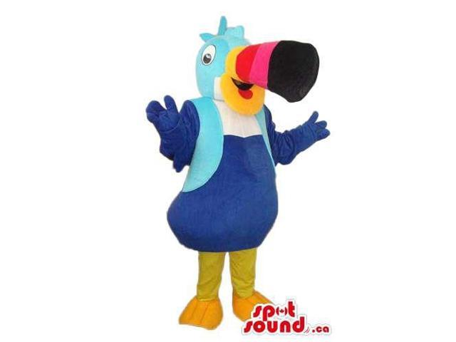 Great Blue Toucan Plush Canadian SpotSound Mascot With A Colourful Large Beak