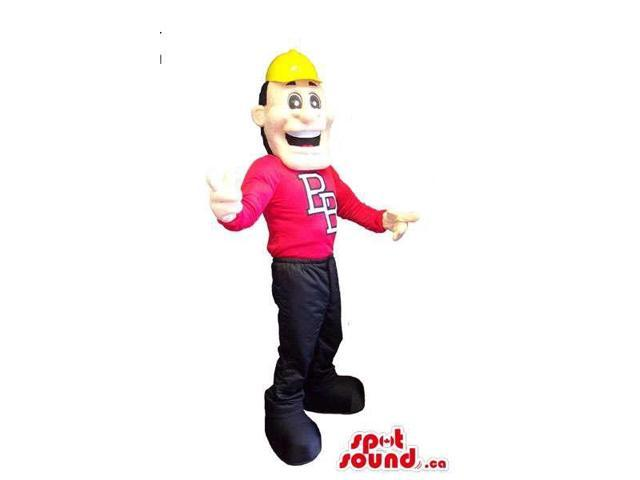 Customised Human Canadian SpotSound Mascot With Dressed In A Customised Top And A Cap