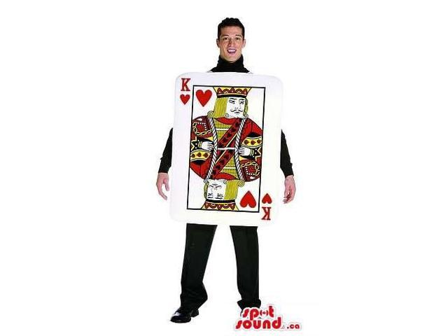 King Of Heart Poker Card Adult Size Costume Or Canadian SpotSound Mascot