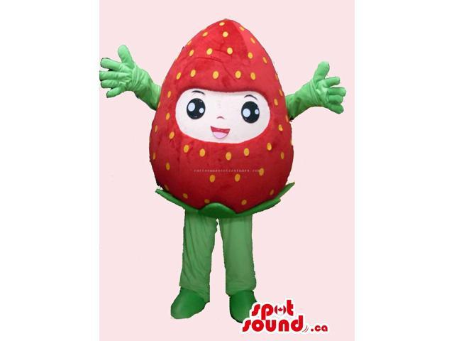 Cute Strawberry Kawaiii Japan Fruit Plush Girl Canadian SpotSound Mascot