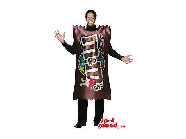 Real-Looking Large M&M'S Chocolate Bag Adult Size Costume Or Canadian SpotSound Mascot
