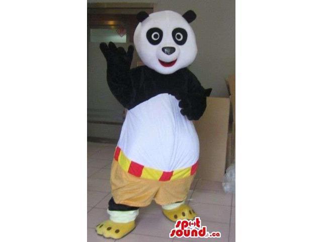 Kung Fu Panda Well-Known Movie Character Plush Canadian SpotSound Mascot