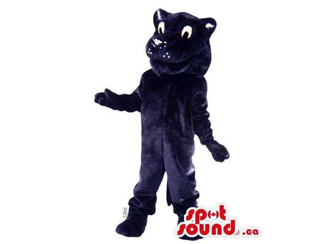 Customised Cute All Black Cat Animal Plush Canadian SpotSound Mascot