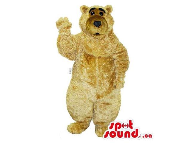 Customised And All Beige Plush Bear Forest Canadian SpotSound Mascot