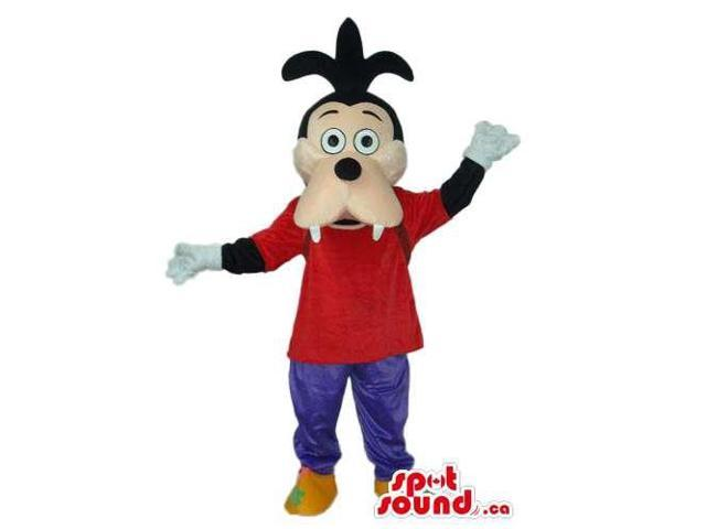Well-Known Goofy Dog Animal Cartoon Disney Character Canadian SpotSound Mascot