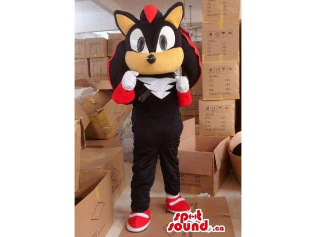 Well-Known Video Game Character Shadow The Hedgehog Canadian SpotSound Mascot
