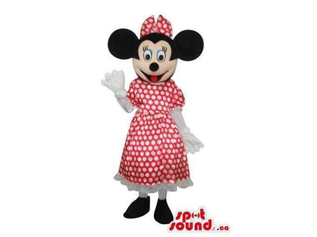 Minnie Mouse Disney Character Canadian SpotSound Mascot With Dots Dress