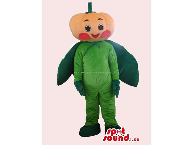 Customised Sweet Pumpkin Vegetable Canadian SpotSound Mascot With A Cute Face