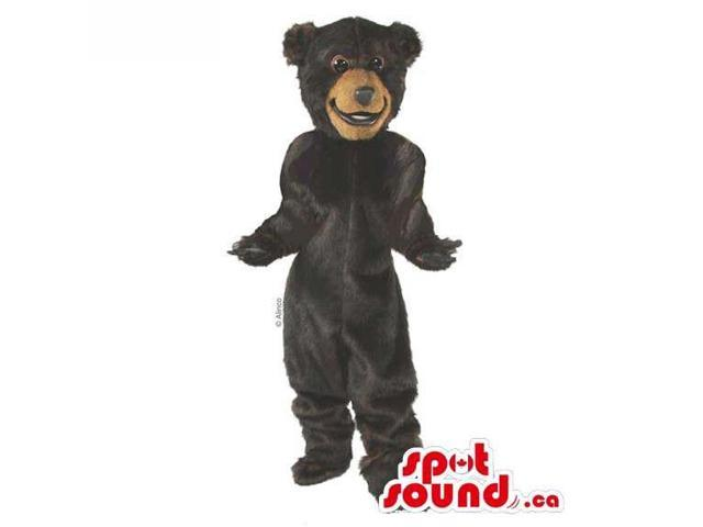 Customised All Dark Brown Plush Bear Forest Canadian SpotSound Mascot
