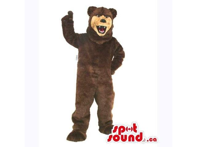 Customised All Dark Brown Wild Bear Forest Canadian SpotSound Mascot