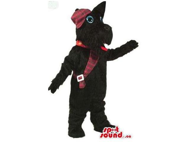 Scottish Terrier Dog Plush Canadian SpotSound Mascot Dressed In Scottish Clothes