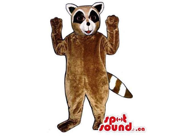 Customised Raccoon Animal Canadian SpotSound Mascot With Striped Tail