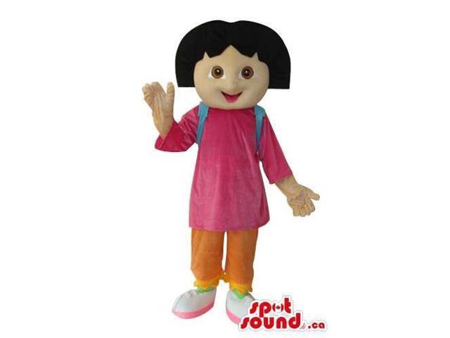 Dora The Explorer Well-Known Cartoon Character Canadian SpotSound Mascot