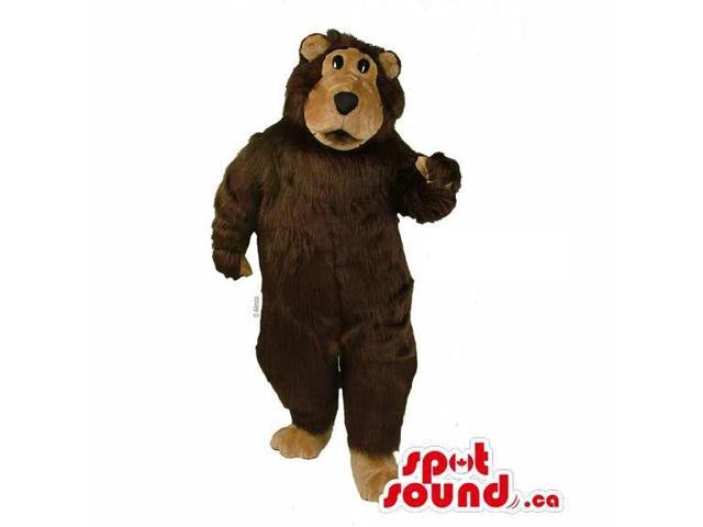 Customised Dark And Light Brown Wild Bear Forest Canadian SpotSound Mascot