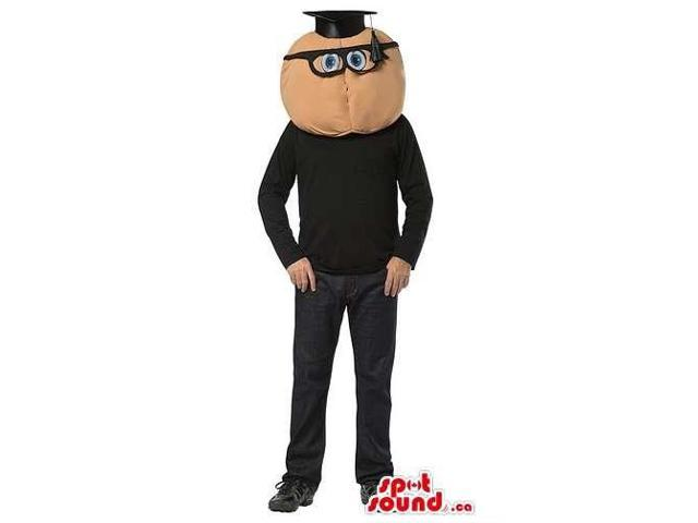 Round Head Teacher With Glasses Canadian SpotSound Mascot Or Adult Size Costume