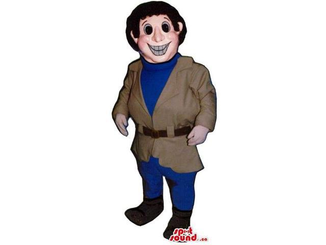 Man Character Canadian SpotSound Mascot Dressed In A Jacket And Customised Top
