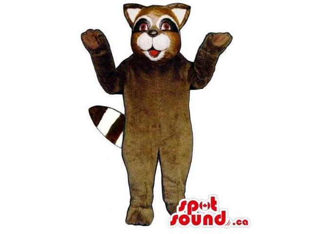 Customised Brown Raccoon Animal Forest Plush Canadian SpotSound Mascot