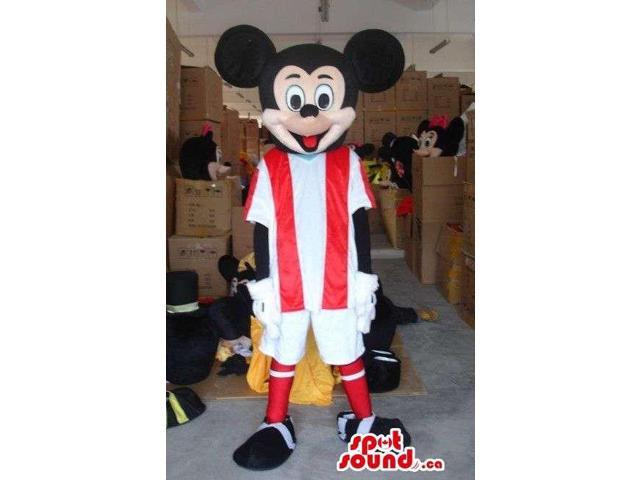 Mickey Mouse Disney Cartoon Character Dressed In Football Gear
