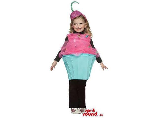Sweet Cupcake Children Size Costume With A Fruit Hat