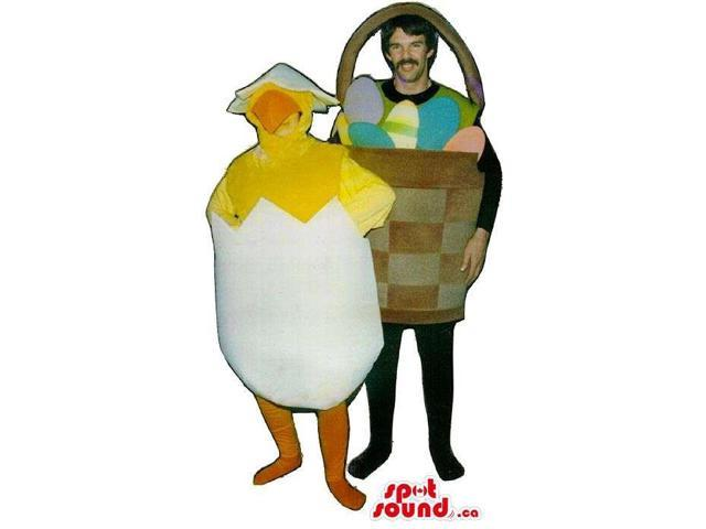Easter Egg Basket Adult Size Costume And A Chicken Hatched Egg