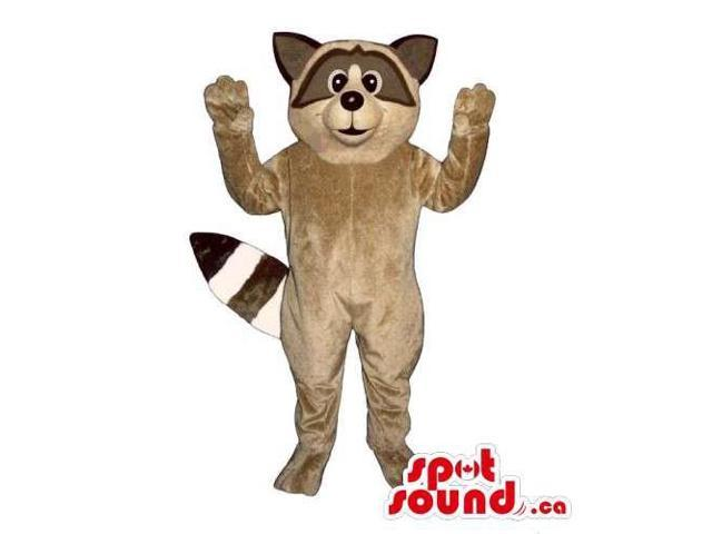 Customised Brown And Beige Raccoon Animal Wildlife Canadian SpotSound Mascot