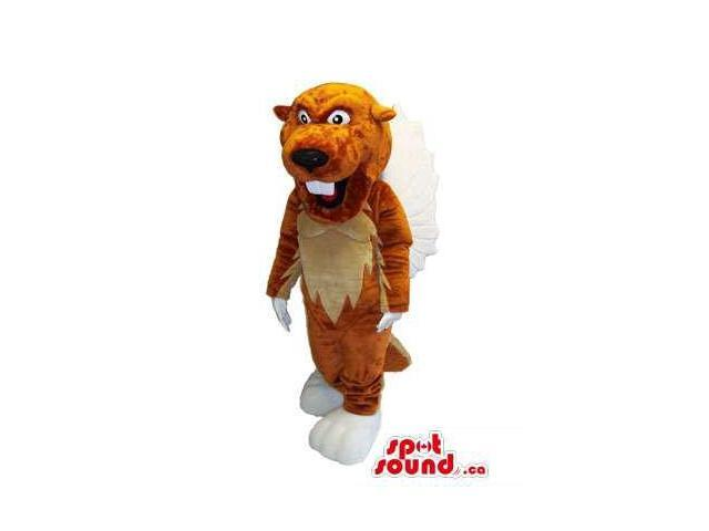 Customised All Beaver Canadian SpotSound Mascot With Light Brown Belly