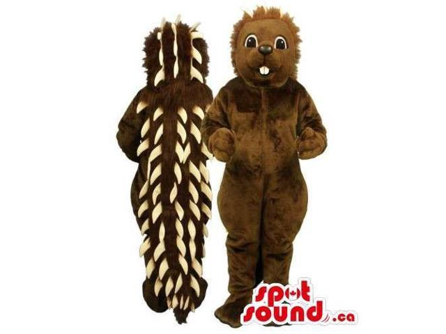 Customised Brown Porcupine Plush Canadian SpotSound Mascot With Spines